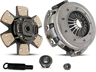 Clutch Kit Works With Ford Mustang Lx Gt SVT Cobra Convertible Coupe Hatchback Sedan 1/1986-2000 4.6L V8 GAS SOHC 5.0L V8 GAS OHV Naturally Aspirated (From 1/1986; 6-Puck Clutch Disc Stage 2)