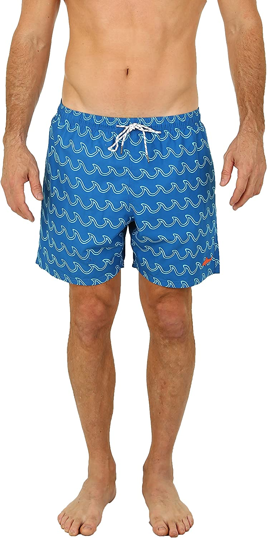 UZZI Men's Bimini Swim Trunks Navy 2XL