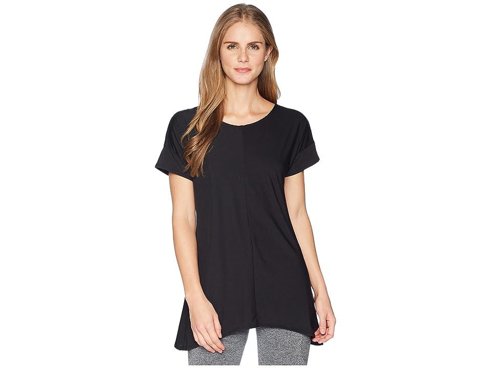 ExOfficio Wanderluxtm Cross-Back Short Sleeve Top (Black) Women