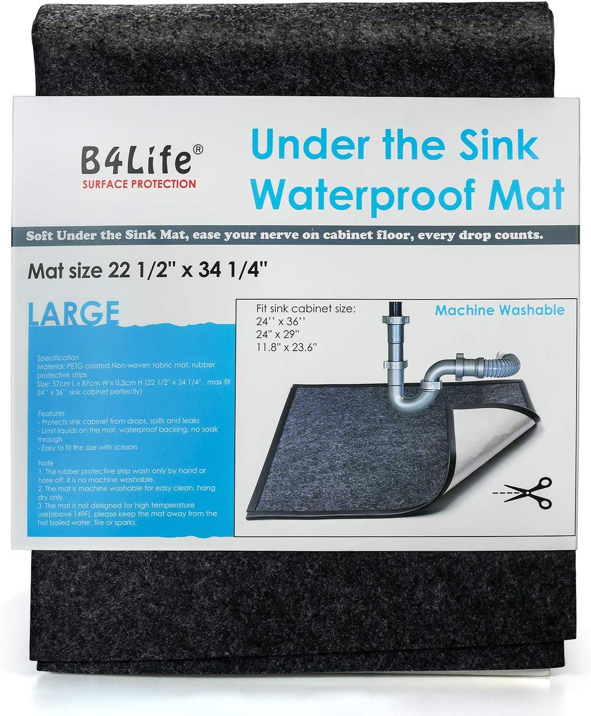 B4Life Under Sink Mat Gifts Kitchen Cabinet x Liner 2021 Ca 24'' Fits 36''