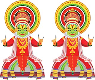 Toiing Craftoi Kathakali - 3D DIY Paper Craft Kit Pack of 2| Teach Kids About Festivals | Learning Kit with Story for Kids...
