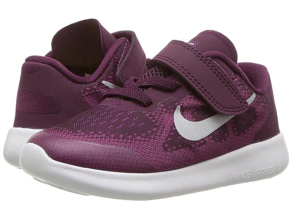 Nike Kids Free RN 2017 (Infant/Toddler) (Bordeaux/Metallic Silver/Tea Berry) Girls Shoes