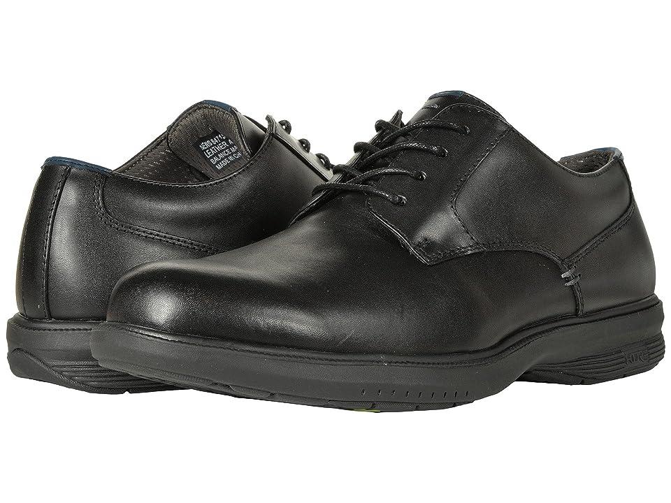 Nunn Bush Marvin Street Plain Toe Oxford with KORE Slip Resistant Walking Comfort Technology (Black) Men
