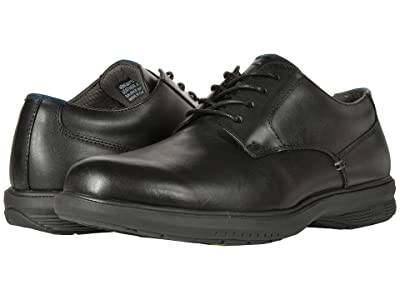 Nunn Bush Marvin Street Plain Toe Oxford with KORE Slip Resistant Walking Comfort Technology (Black) Men