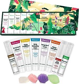 Vitablossom Hemp Beauty Gift Set-12PCS W/Eye Cream, Detergente per il viso, Toner, Crema idratante, Sapone per il viso, Ba...