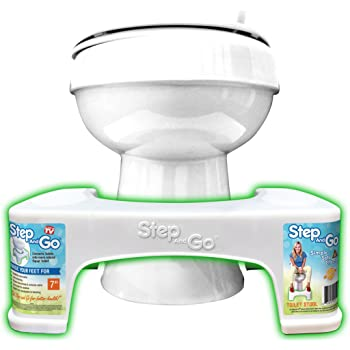"Step and Go LLC Toilet Stool 7"" New - Proper Toilet Posture for Better and Healthier Results"