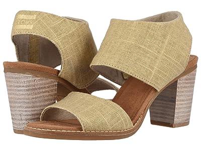 TOMS Majorca Cutout Sandal (Champagne Metallic Foil Woven) Women