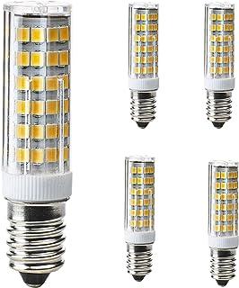 E14LED, kobos de LED® 5Pack, 7W, equivale a halógeno de 50W lámpara, PERA, G9LED regulable, blanco cálido, 3000K, SMD, 500lm, led lámpara bombilla, AC220–240V, ángulo de haz de 360°,
