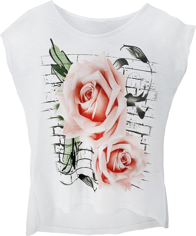 c/ód. 9050 con imagen estampada JOPHY /& CO fabricada en Italia Camiseta de manga corta blanca para mujer