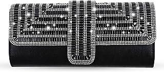 R RWALKING Strass Glitter Damen Clutch Tasche, Kette diagonal über die Abendparty Kleidertasche, Bankett Tasche, Handtasche