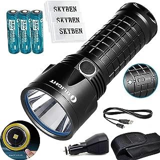 Bundle:Olight SR52UT Rechargeable Cree XP-L HI LED 1100 lumens 800 meters Waterproof flashlight+3*Olight 18650 3400 mAh Battery +3*Skyben 18650 Battery Case