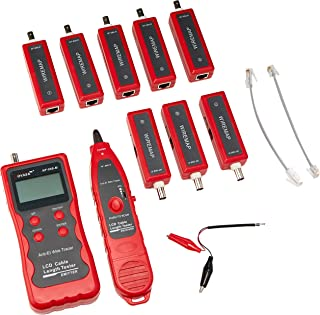 Noyafa NF-868W English Version Land Tester Land Cable Tester UTP Cable Tester for Rj45/rj11/banc/sub, Red