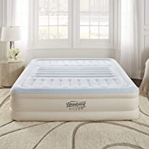 Simmons Beautyrest Lumbar Supreme Adjustable Tri-Zone Support Air Bed Mattress with Built-in Pump, Silver, 18