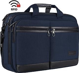 "KROSER 18"" Laptop Bag Stylish Laptop Briefcase Fits Up to 17.3 Inch Laptop Expandable Water-Repellent Shoulder Messenger Computer Bag with RFID Pocket for Travel/Business/School/College/Men/Women-Navy"
