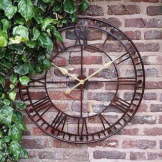 Reloj de pared Westminster gigante, con números romanos para jardín, 80 cm