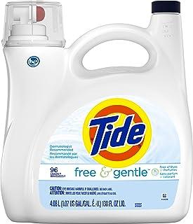 Tide Tide Free & Gentle Liquid Laundry Detergent, 96 Loads 138 fl oz, 138 Fl Oz