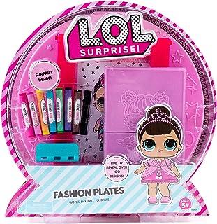 L.O.L. Surprise! Fashion Plates by Horizon Group USA,DIY Fashion Design Activity Kit, Make Over...