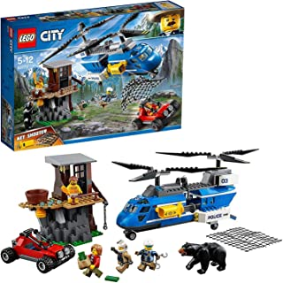 LEGO City Police Mountain Arrest Building Set, Buggy & Helicopter Toy, Police Toys for Kids