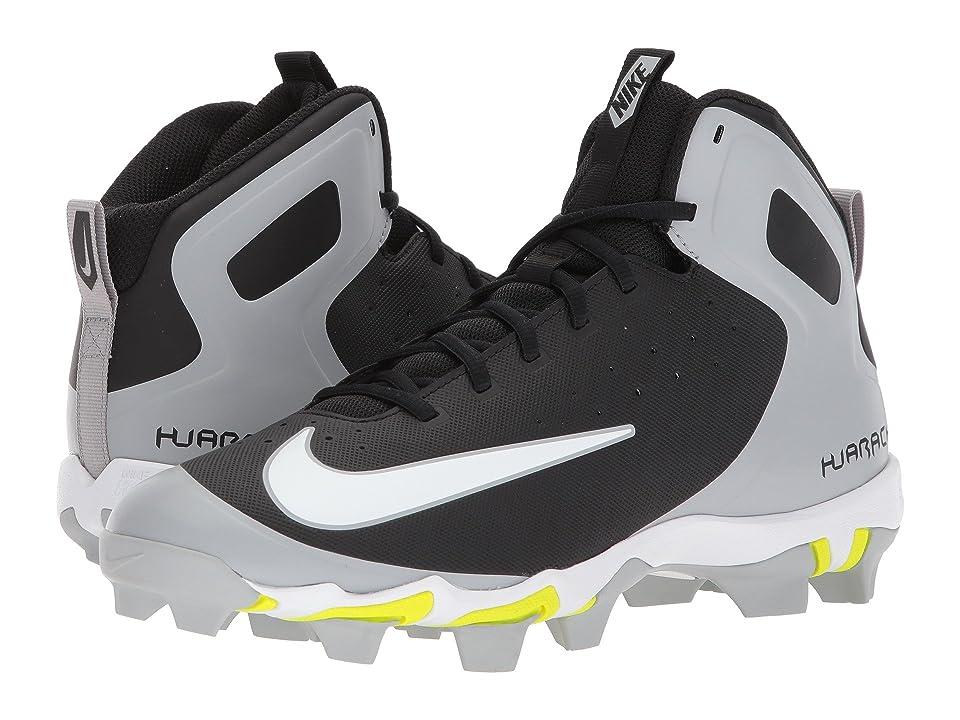Nike Alpha Huarache Keystone Mid (Black/White/Wolf Grey/Wolf Grey) Men