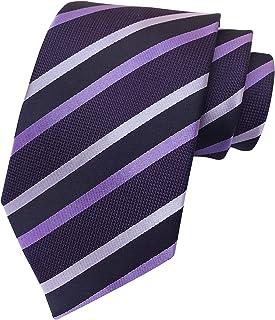 Vinesen Men's Fashion Striped Patterned Ties Business Wedding Formal Slim Neckties