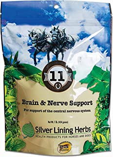 Silver Lining Herbs Brain And Nerve Support | Natural Herbal Support for Improving Horses Focus, Attention Span, and Behavior | Promotes Horse Good Mental Health| 1 Pound | Made in the USA