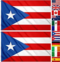 JBCD 2 Pack Puerto Rico Flag 3x5 Foot Outdoor Puerto Rican Flags Banner with Brass Grommets, Durable and UV Fade Resistant