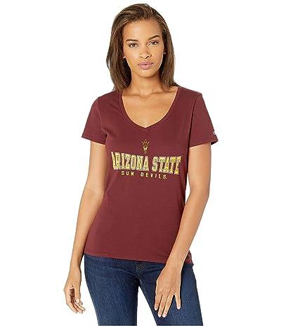 Champion College Arizona State Sun Devils University V-Neck Tee (Maroon 2) Women