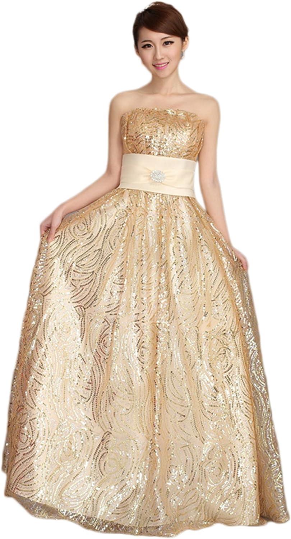 LIMATRY Women's Sexy Fashion Wedding Toast Evening Dress
