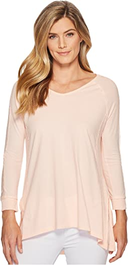 Mod-o-doc - Supreme Jersey Lace Inset V-Neck T-Shirt