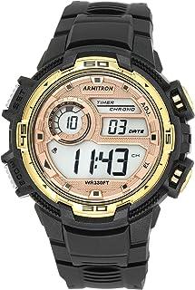 ساعة ارمترون سبورت للرجال 40/8347COR رقمية كرونوغراف بسوار من الراتنج