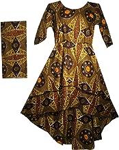 Decoraapparel Women's Stylish Cotton Wax Long Dress, Short Front Short Sleeve Dress