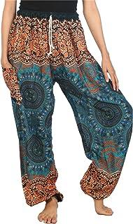 LOFBAZ Harem Pants for Women S-4XL Plus Drawstring Yoga Boho Palazzo PJ Clothing