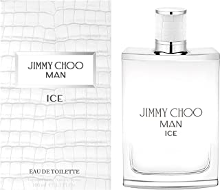 JIMMY CHOO Man Ice Eau De Toilette, Citrus Aromatic Woody, 3.3 Fl Oz