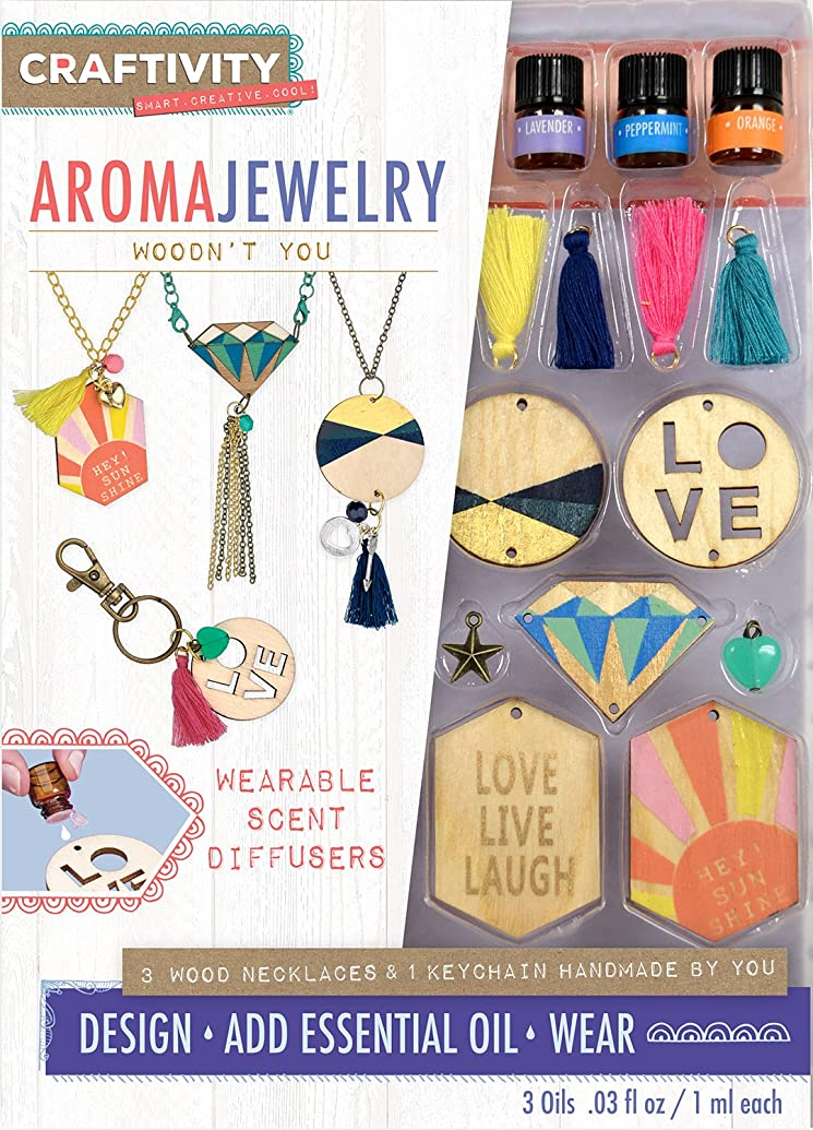 CRAFTIVITY AromaJewelry - Woodn't You - Essential Oil Jewelry Making Kit