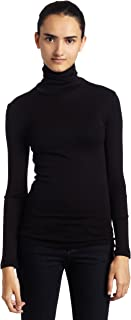 Splendid 1x1 Rib Long Sleeve Turtleneck Tee T-Shirt