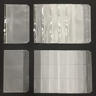 12PCS A6 6 Holes Loose Leaf Notebook Refills Filler Organizer - 6PCS Zipper Envelope Binder Pockets and 6PCS 3 Pockets Name Card Bag for 6-Ring Binder,Q1874