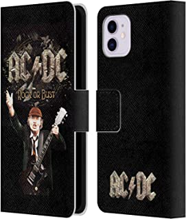 Official AC/DC ACDC Rock Or Bust Song Titles Leather Book Wallet Case Cover Compatible for iPhone 11