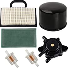 HIFROM Replace 808656 Fuel Pump with 698754 499486 Air Pre Filter Oil Fuel Filter for Briggs Stratton 691007 Intek V-Twin 18-26 HP Engines Lawn Mower Parts