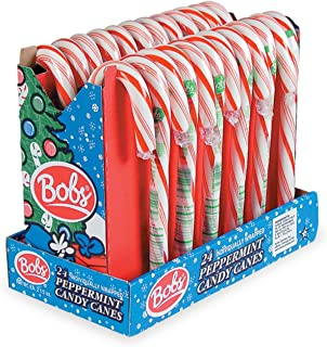 Bobs Red & White Giant Mint Candy Canes, Pack of 24
