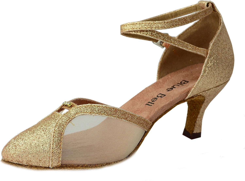 BlueBell Blue Bell Shoes Handmade Women's Ballroom Latin Competition Dance Shoes-Kim 2.5