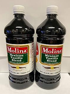 Mexican Vanilla Blend By Molina Vainilla, 33.3 Oz / 1000 Ml (Vanillin Extract) by Molina Vanilla (33.3 Fl Oz) - PACK OF 2