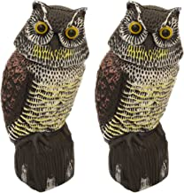 Woodside 2 X Large Realistic Owl Decoy With Rotating Head Bird/Pigeon/Crow Scarer