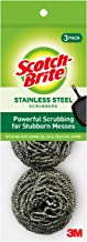 Scotch-Brite Stainless Steel Scrubbers, 3 Count