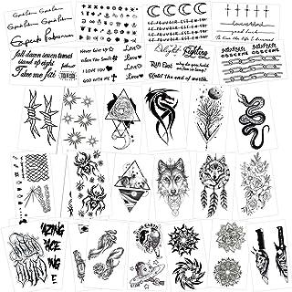 Konsait temporär Tätowierung schwarz Tattoo Körperkunst K