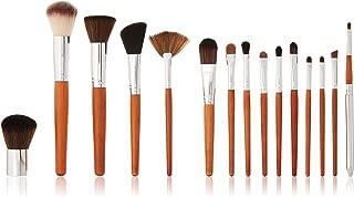 Vanity Planet Pallete Professional Makeup Brush - Soft Synthetic Bristles, Birchwood Set - Pack of 15