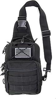 کوله پشتی LINE2design First Aid Sling - تجهیزات EMS تجهیزات پزشکی اورژانس کیسه مولی شانه ای تاشو - بسته نجات در فضای باز ورزش های سنگین - مناسب برای پیاده روی در کمپینگ - سیاه