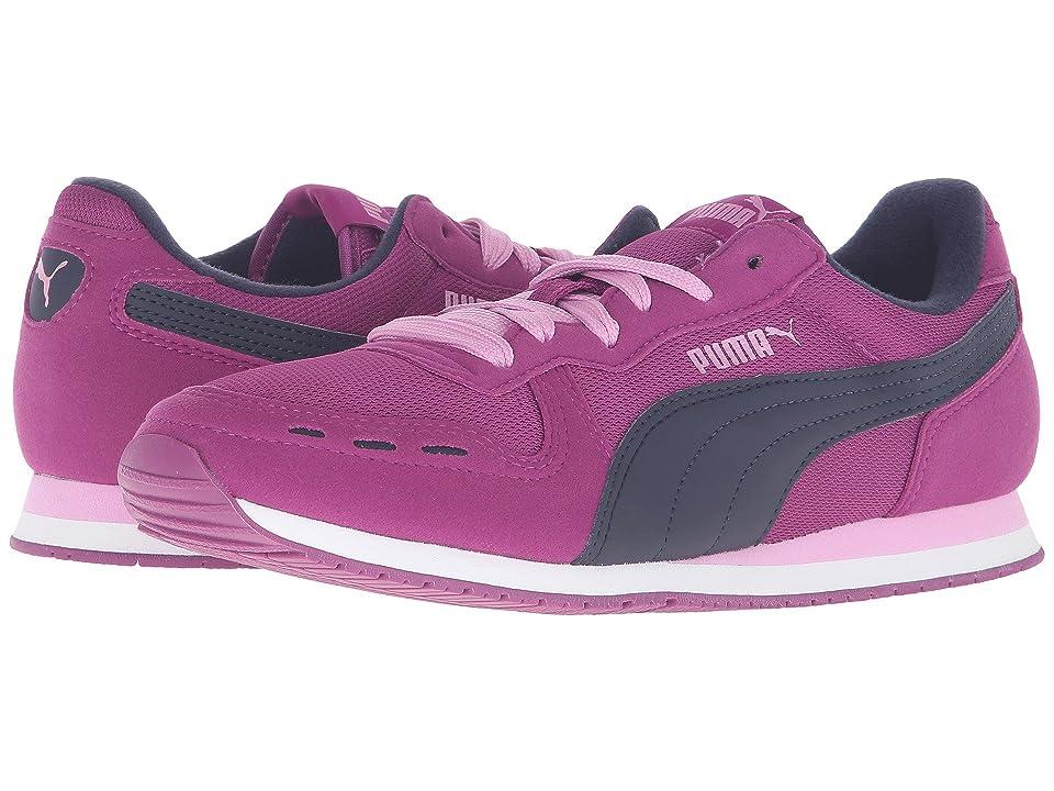 Puma Kids Cabana Racer Mesh Jr (Big Kid) (Hollyhock/Peacoat) Girls Shoes