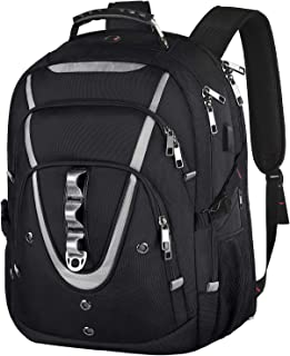 18.4 Laptop Backpack for Men, 55L Extra Large Gaming Laptops Backpack with USB Charger Port,TSA Friendly Flight Approved a...
