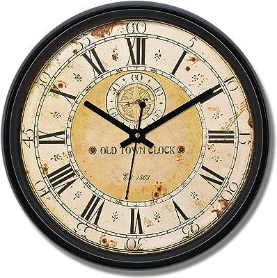 Amazon Brand - Solimo 12-inch Wall Clock - Grand Voyage (Silent Movement)