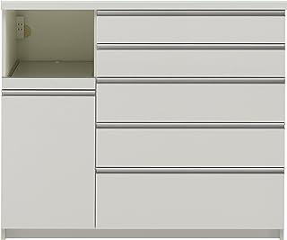 パモウナ 食器棚WG パールホワイト 幅120×高さ101×奥行45 日本製 WGL-S1200R下台